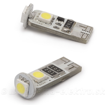 Autožiarovka LED T10 12V/3W CAN-BUS 3SMD 2ks