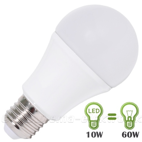 LED žiarovka 10W E27 230V CW 6500K NEW