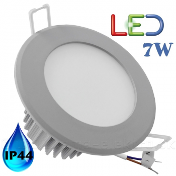 LED panel  7W kruh 4000K sivý rám IP44